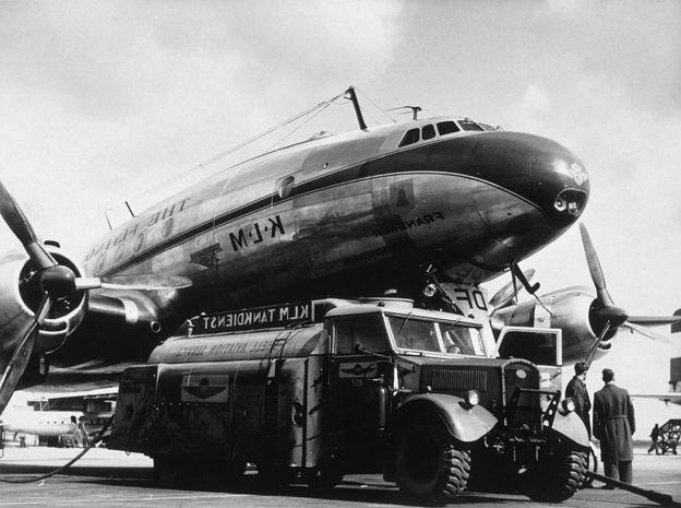 Ранняя модель самолета Lockheed Constellation