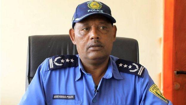 Taliyaha booliska degmada Addis Ketema ee magaalada Addis Ababa Commander Kebede Asafa
