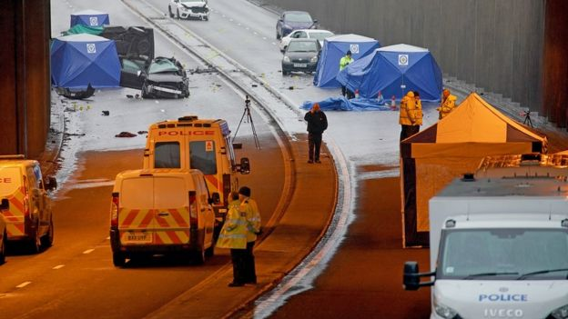 Birmingham death crash photo bystanders 'lost humanity' - BBC News