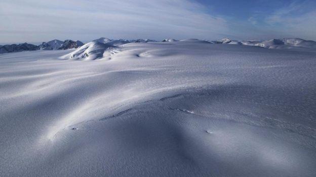 Un paisaje helado