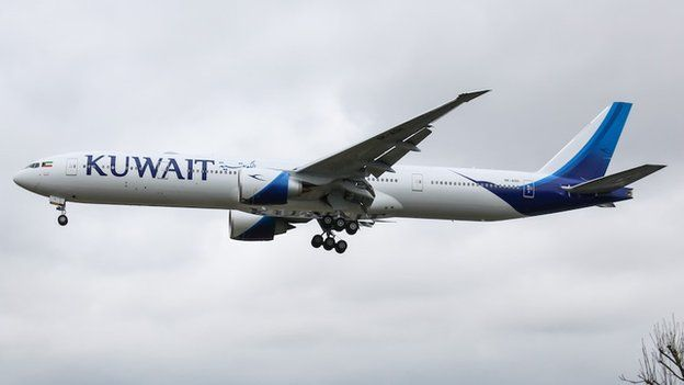 Kuwait Airways cancelled the passenger's ticket for a flight from Frankfurt to Bangkok.