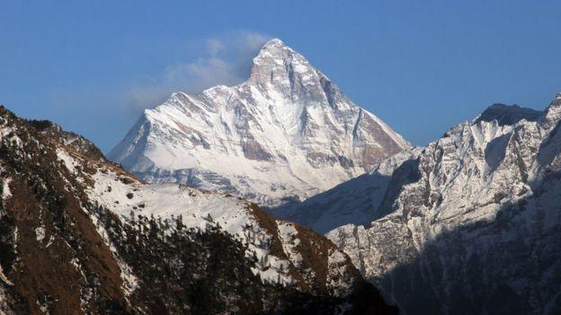 Montaña Nanda Devi, en el estado de Uttarakhand, India