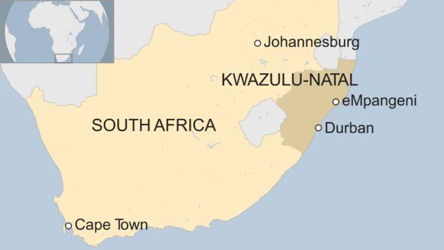 map showing Empangeni