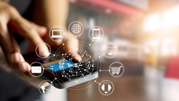Representación de un teléfono móvil conectado a Wi-Fi