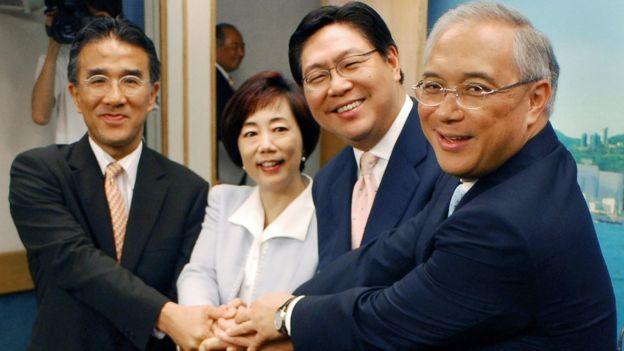 (左至右)田北辰、廖秀冬、馬時亨、錢果豐(11/4/2006)