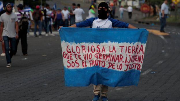Manifestante nicaragüense