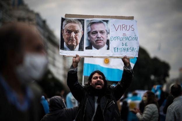 Una de las protestas contra la expropiación de Vicentin.