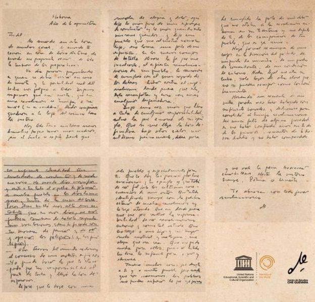 Reprodução da carta de Che Guevara