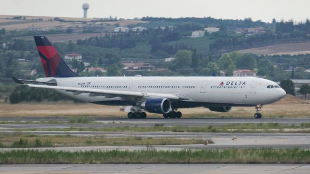 Avión de la aerolínea Delta.