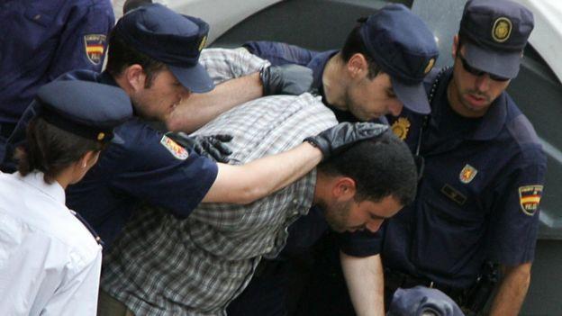 Arresto de sospechoso