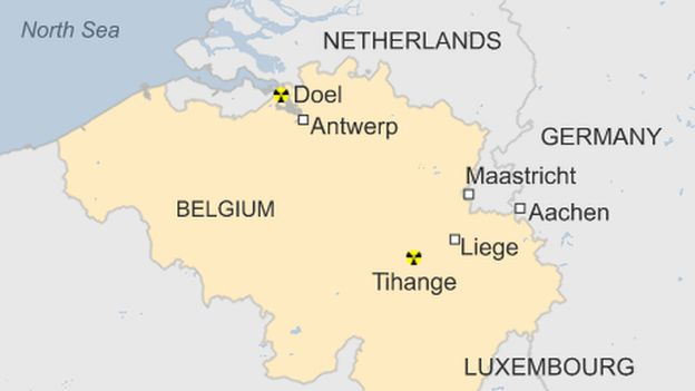 Map Of Germany Luxembourg Belgium.Germans In Aachen Get Free Iodine Amid Belgium Nuclear Fears Bbc News