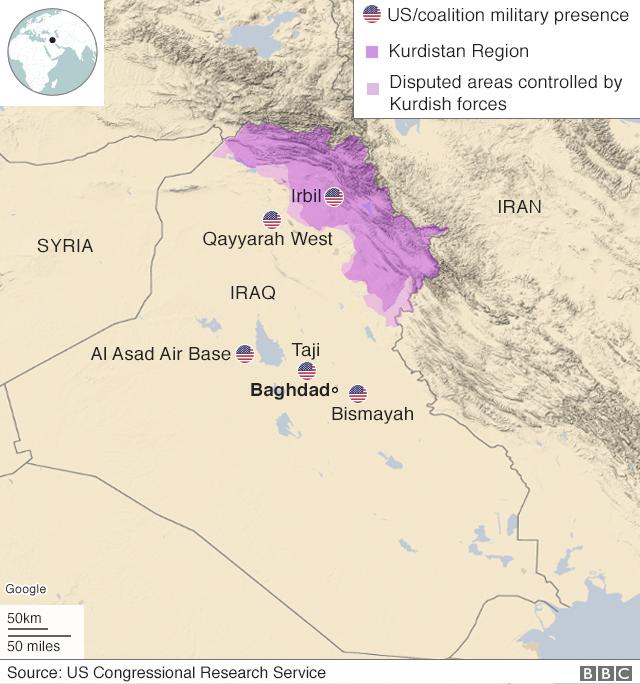 इराकमा अमेरिकी सैन्य आधार शिविरहरू
