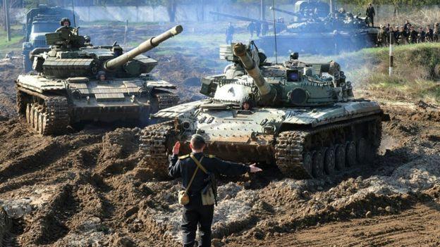 Украинские танки на учениях