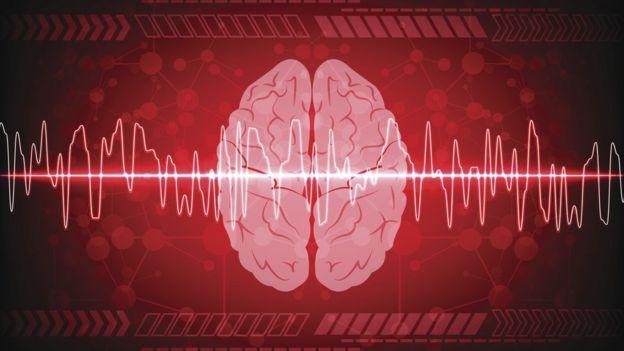 Ilustración de actividad cerebral