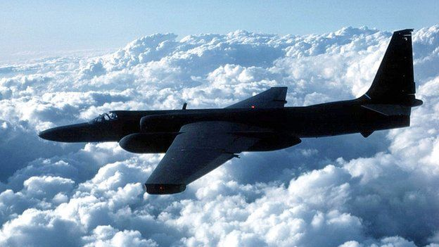 A later variant of the U-2 high altitude reconnaissance plane flown by Francis Gary Powers
