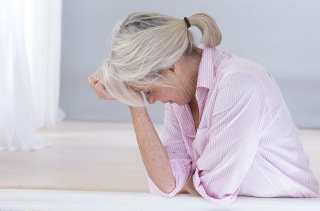 Mulher com dor