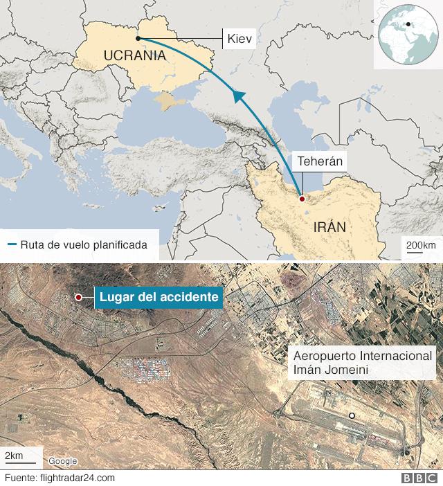 Irán reconoce que por error uno de sus misiles impactó avión ucraniano