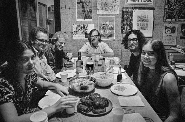 David Doggett with staff of Kudzu, a progressive underground newspaper in Jackson