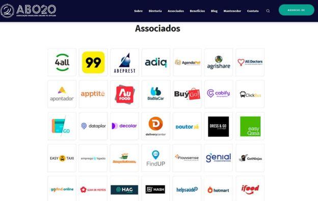 Empresas que participam da Associação Brasileira de Online to Offline