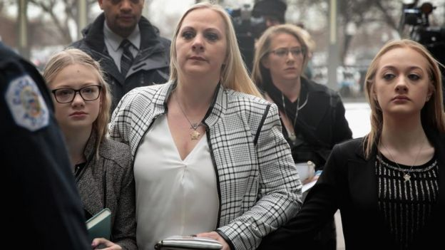 Van Dyke's wife and daughters were in court on Friday