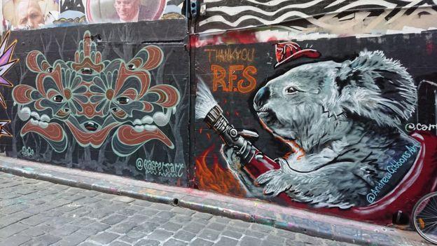 墨尔本霍西尔巷上的街头艺术