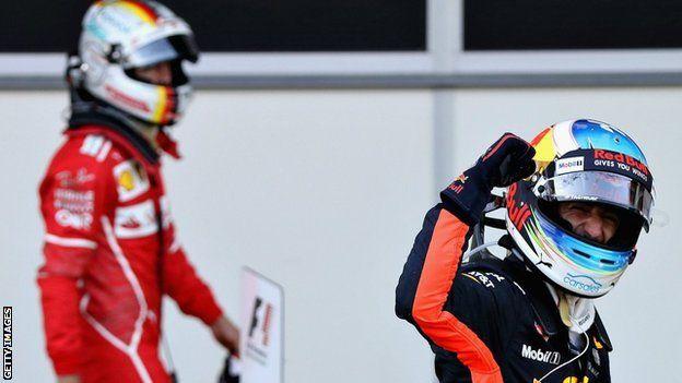 Sebastian Vettel y Daniel Ricciardo