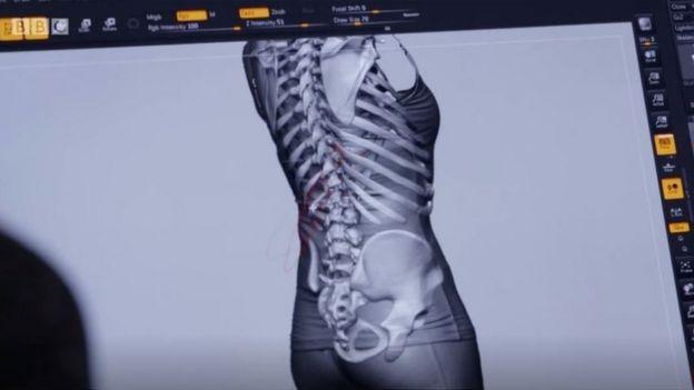Un modelo digital de un cuerpo humano
