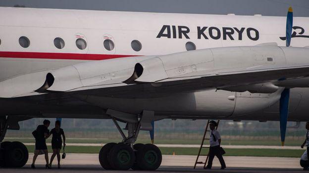 Avión de Air Koryo