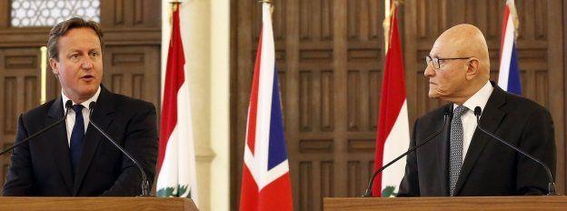 David Cameron and his Lebanese counterpart Tammam Salam