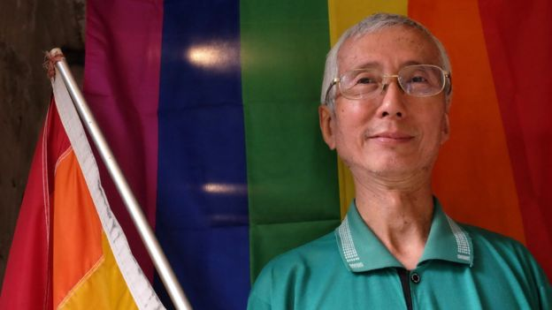 祁家威出柜后投身台湾同志权益运动至今30多年。