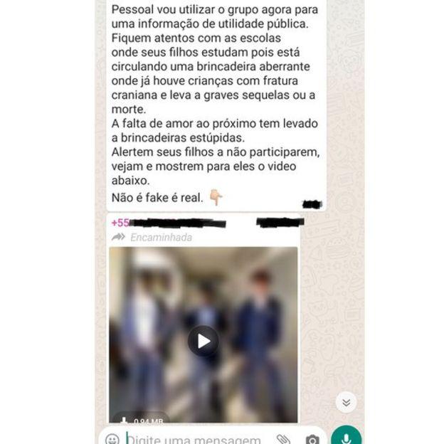 mensagem sendo compartilhadas em grupos de WhatsApp