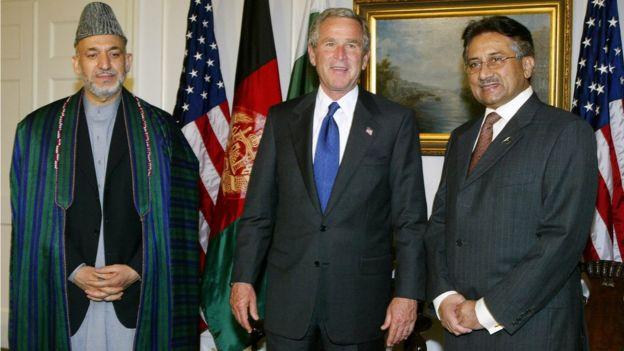 کرزی بوش مشرف