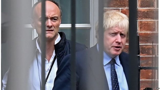 Dominic Cummings and Boris Johnson