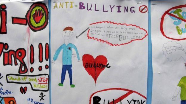 Campanha antibullying em escola inglesa