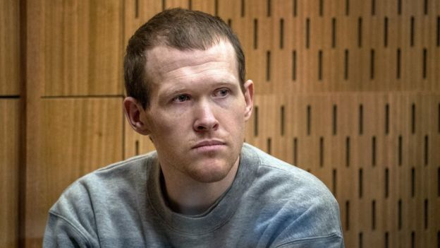 Brenton Tarrant during sentencing at thChristchurch mosque attack: Brenton Tarrant sentenced to life without parolee High Court in Christchurch