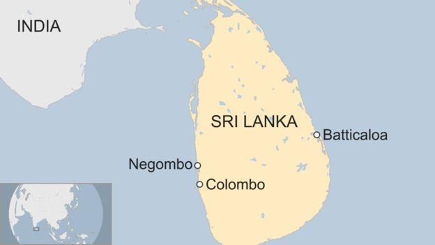 Mapa de Sri Lanka
