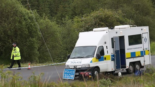 Police at forest in Dumfries and Galloway