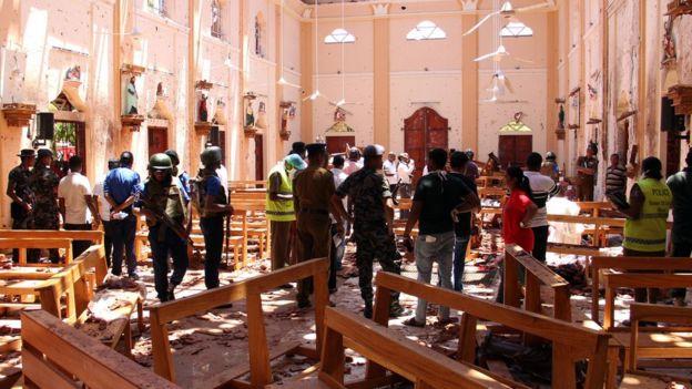 La iglesia de San Sebastián, en la ciudad de Negombo, fue una de las atacadas.
