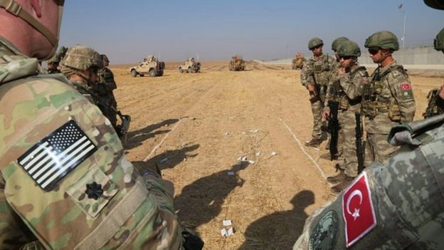 ABD ve Türkiye askerleri Suriye'de