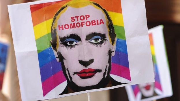 Protesta contra la homofobia en Rusia