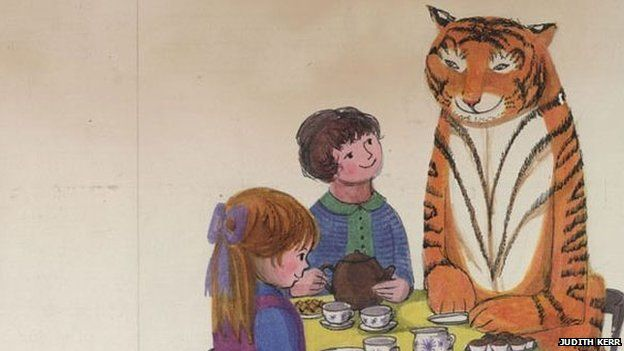 Illustration from The Tiger Who Came to Tea