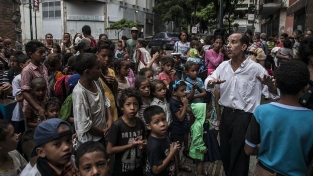 Los comedores comunitarios se han convertido en una solución para una parte de la población venezolana. Foto: Getty Images