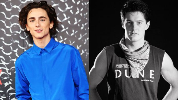 Timothee Chalamet and Kyle MacLachlan