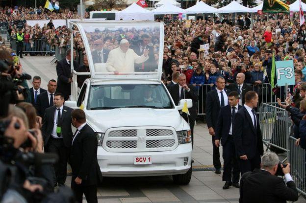 El papa Francisco en Lituania.