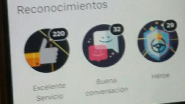 Una captura de pantalla de Uber