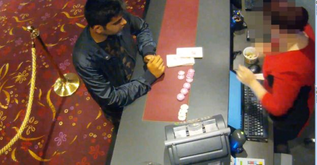 Qaiser at a casino