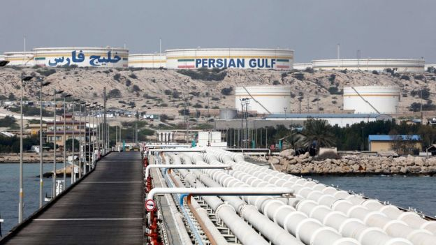Instalaciones petrolíferas en Irán