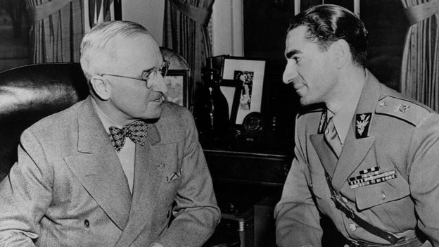 Harry Truman y el sha Mohammad Reza Pahlavi.