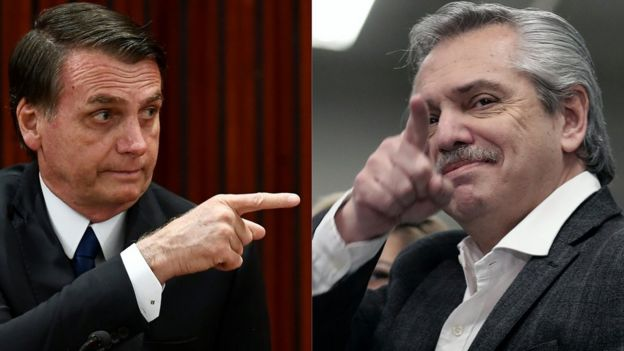 Bolsonaro e Alberto Fernandez