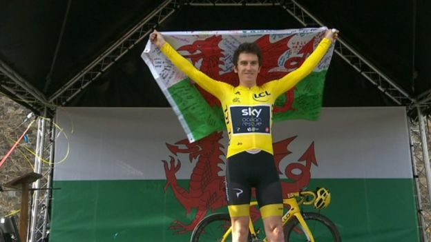 Image Caption Geraint Thomas Celebrated In Front Of Huge Crowds Who Gathered At Cardiff Castle And The Senedd